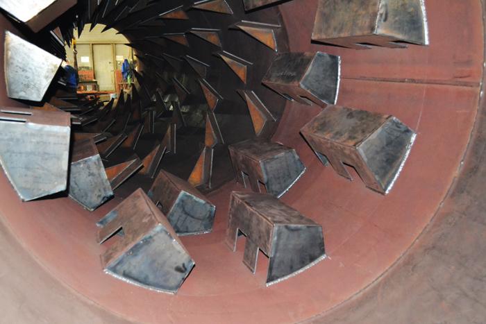 Пересыпные ковши сушильных барабанов для сыпучих материалов